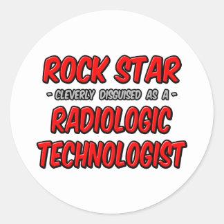 Rock Star .. Radiologic Technologist Classic Round Sticker