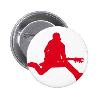 Rock Star Red 2 Inch Round Button