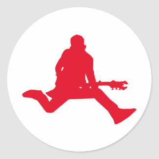 Rock Star Red Classic Round Sticker