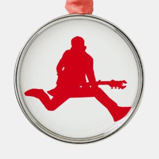 Rock Star Red Metal Ornament