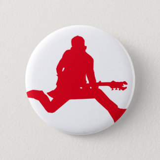 Rock Star Red Pinback Button
