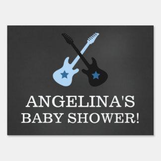 Rock Star Rock a Bye Baby Shower Chalkboard Sign