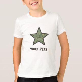 Rock Star Rock Texture with Custom Text T-Shirt