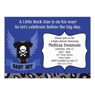 Rock Star Skull Baby Shower Invitations