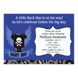 """Rock Star Skull Baby Shower 5"""" X 7"""" Invitation Card"""