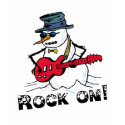 Rock Star Snowman T-shirt shirt