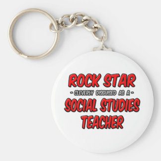 Rock Star...Social Studies Teacher Keychains