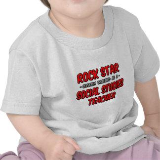Rock Star Social Studies Teacher T-shirt