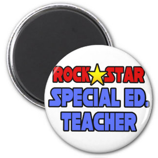 Rock Star Special Ed. Teacher 2 Inch Round Magnet