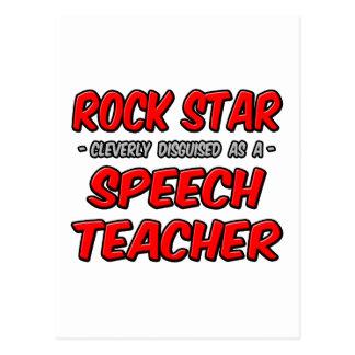 Rock Star...Speech Teacher Postcard