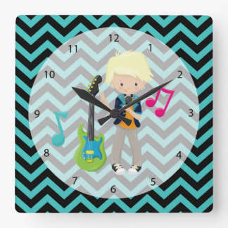 Rock Star Square Wall Clock
