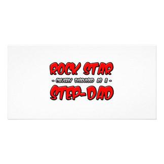 Rock Star...Step-Dad Customized Photo Card