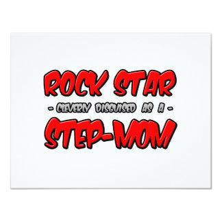 Rock Star...Step-Mom 4.25x5.5 Paper Invitation Card