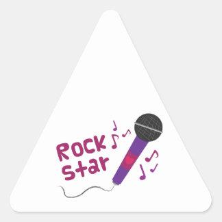 Rock Star Triangle Sticker