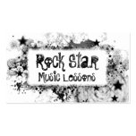Rock Star Style Double-Sided Standard Business Cards (Pack Of 100)
