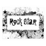 Rock Star Style Postcard