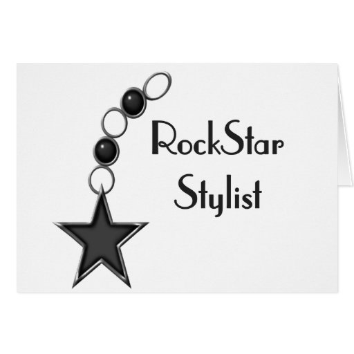 Rock Star Stylist Greeting Card