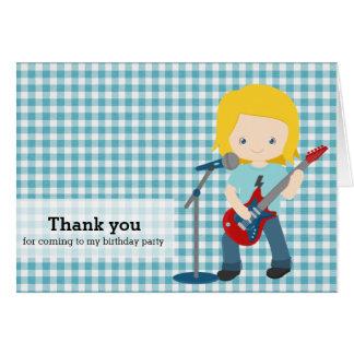 Rock Star Thank you Card