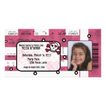 Rock Star Ticket Invitation or Thank You Card Picture Card