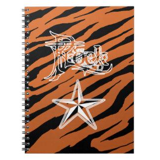 Rock Star Tiger Stripe Notebook