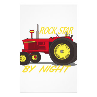 Rock Star Tractor Stationery