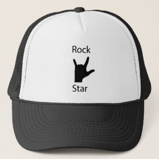 Rock star trucker hat