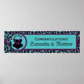 Rock Star Tutu Baby Shower Banner for Girl PUR Poster
