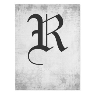 Rock Star Tux Gray Banner Postcard
