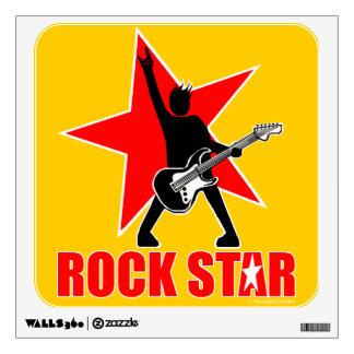 Rock star wall sticker
