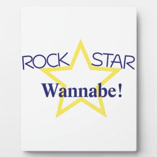 Rock Star Wannabe Plaque