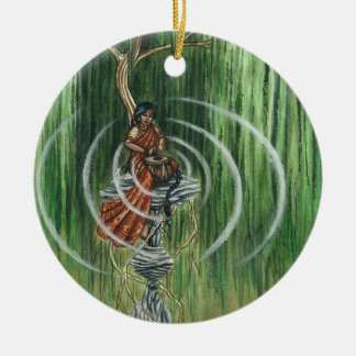 Rock Steady Beat Double-Sided Ceramic Round Christmas Ornament