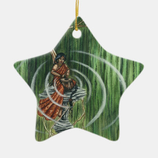 Rock Steady Beat Double-Sided Star Ceramic Christmas Ornament