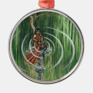 Rock Steady Beat Round Metal Christmas Ornament