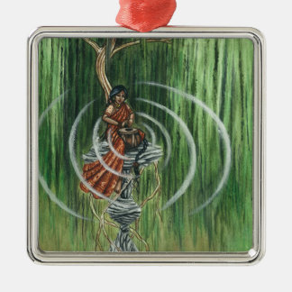 Rock Steady Beat Square Metal Christmas Ornament