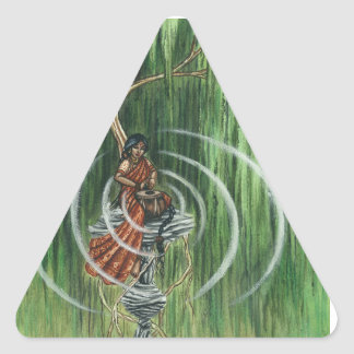 Rock Steady Beat Triangle Sticker