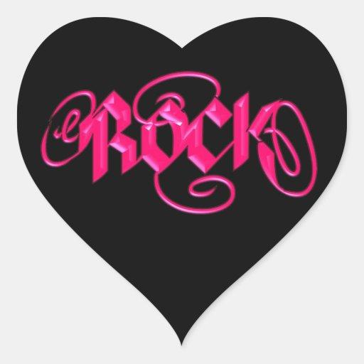 Rock Heart Stickers