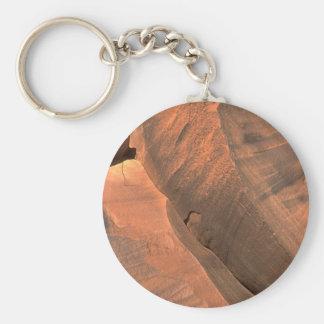 Rock Structure Basic Round Button Keychain