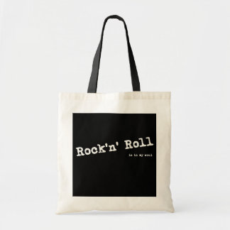 Rock style budget tote bag