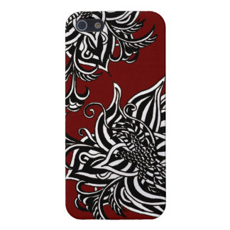 Rock Tattoo Flower Graphic Art Red / Black / White Cases For iPhone 5