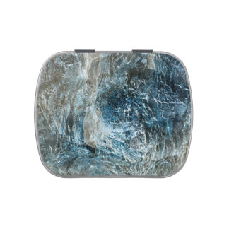 rock texture blue invert pattern jelly belly candy tin