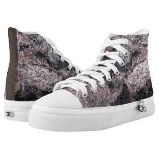 Rock Texture Pinkish High-Top Sneakers