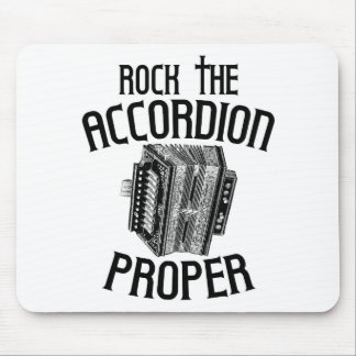 Rock the Accordion Proper Mouse Pad