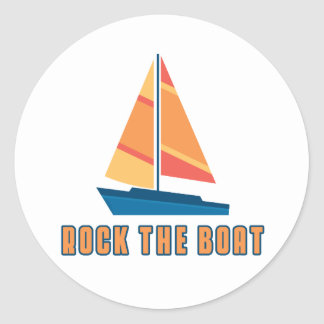 Rock The Boat Round Stickers
