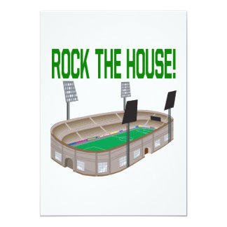 Rock The House 5x7 Paper Invitation Card