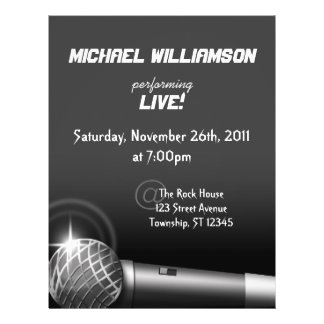 Rock the Mic ~ Gig or Venue Flyers