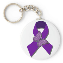 Rock the Ribbon Fibromyalgia Support Keychain