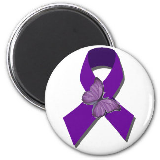 Rock the Ribbon Fibromyalgia Support 2 Inch Round Magnet