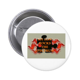 Rock the Spectrum! Pinback Button