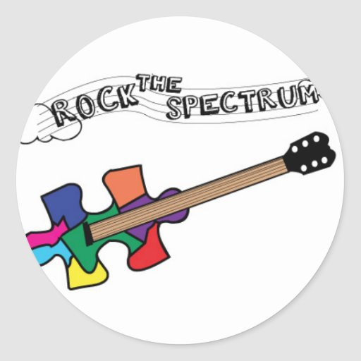 Rock the Spectrum logo Classic Round Sticker