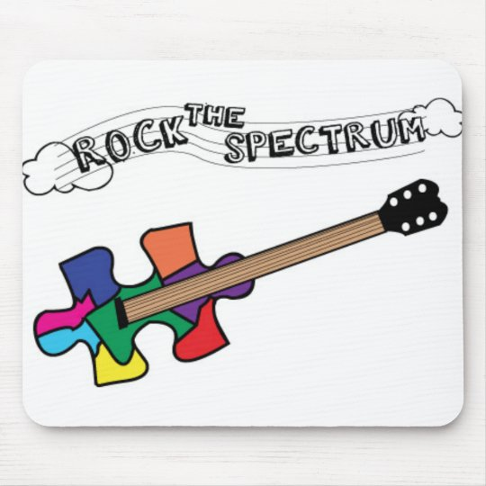 Rock the Spectrum logo Mouse Pad